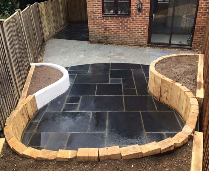 Black Limestone and Granite Paving Aylesbury