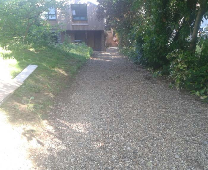 Gravel Driveway Before Project