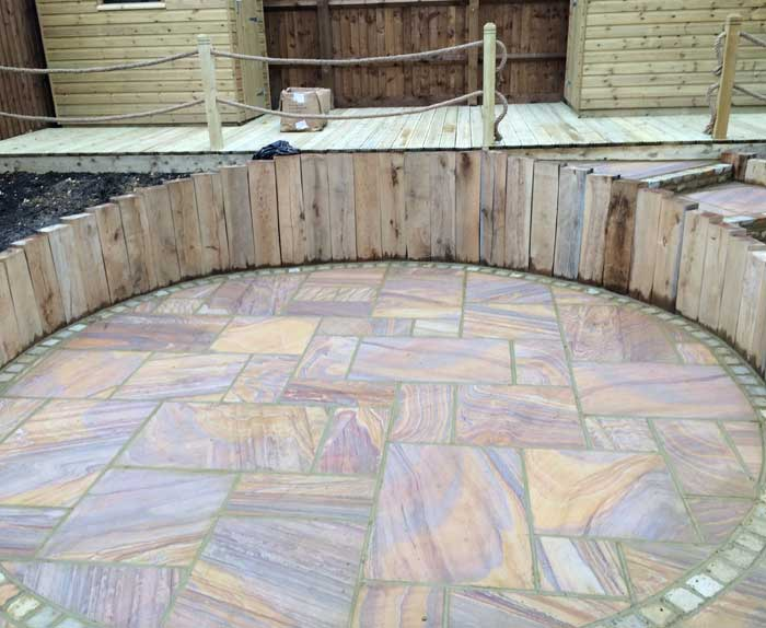 Rainbow Sandstone Patio Complete