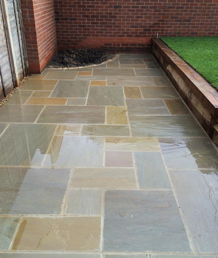 Raj Green Sandstone Patio Polished